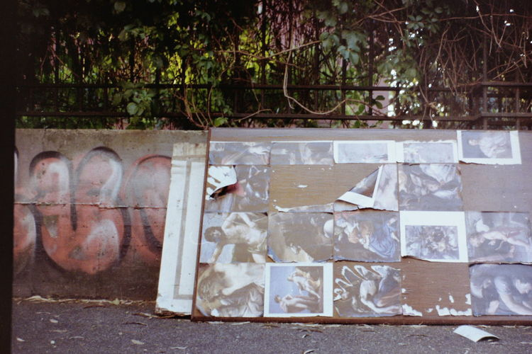 Paintings Print Trash Abandoned Abandoned Things Art Film Photography Garbage Graffiti Large Group Of Objects No People Outdoors Pavement Plant Road Sidewalk Street