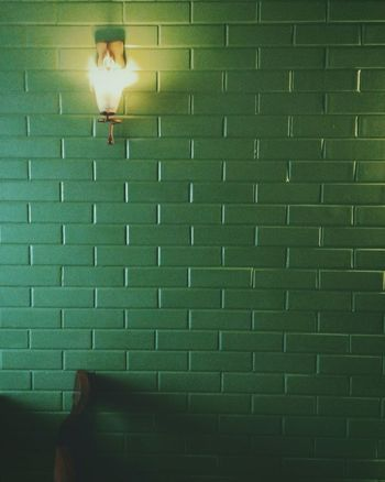 Indoors  Wall Greenwalls Bricked Lights Lamp Cold Cold Temperature Moody Moodygrams Eyem Best Shots Eyemphotography HTC_photography HTC Desire EYE Htcphotography EyeEmshots No People Indianphotographer Pixelsphotography