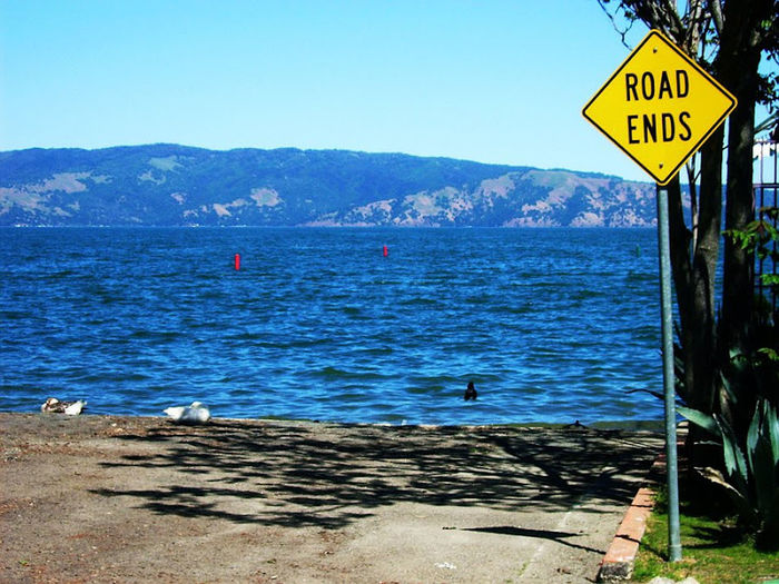 The road ran out in Lakeport when we reached Clearlake, Ca. June 2010.