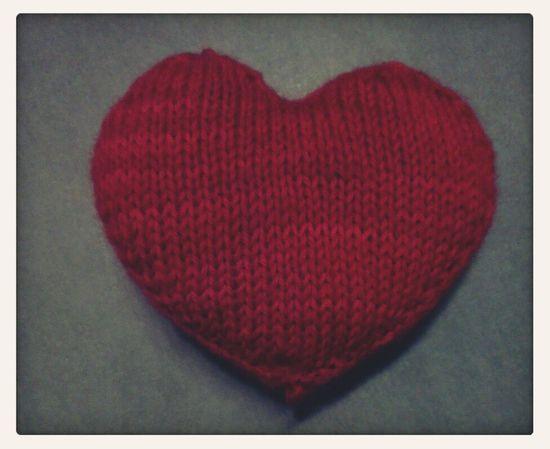 Love Selfmade Knitting Heart Simplicity Handmade Arts And Crafts Stricken Yarn Maleknitting
