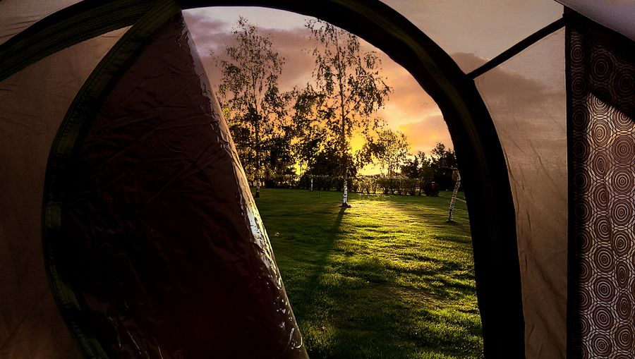 Camping Sunrise Morning Sun Enjoying Life Saxon Switzerland Germany