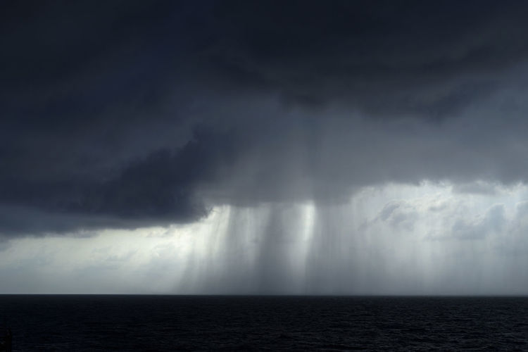 Storm clouds over sea