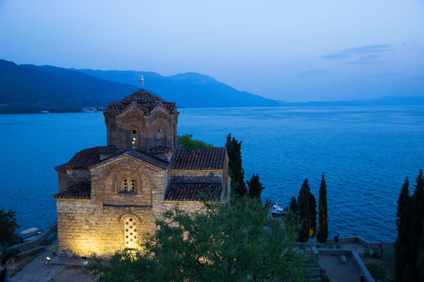 St. John church, Ohrid, Macedonia Balkan Church Night Lights Nightphotography Travel Architecture Bell Tower Building Exterior Built Structure Day History Illuminated Lake Lake View Nature Night No People Outdoors Place Of Worship Religion Sky Spirituality Travel Destinations Tree Water