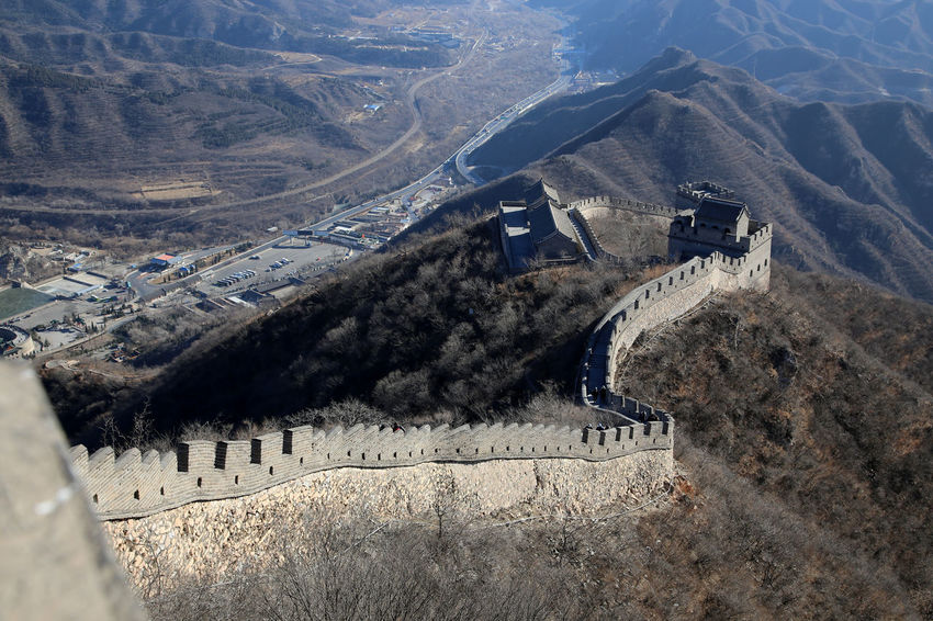 Great wall of China outside Beijing Great Wall Of China Architecture Built Structure Chinese Wall Dam Day High Angle View Hydroelectric Power Irrigation Equipment Landscape Mining Mountain Nature No People Outdoors Wall Chinese Wall