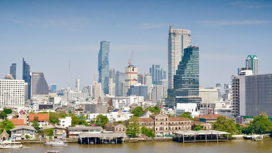 River View Bangkok Built Structure Architecture Building Exterior City Building Office Building Exterior Skyscraper Cityscape Tall - High Modern Residential District Water Urban Skyline Nature Waterfront Sky Landscape Nautical Vessel Tower No People
