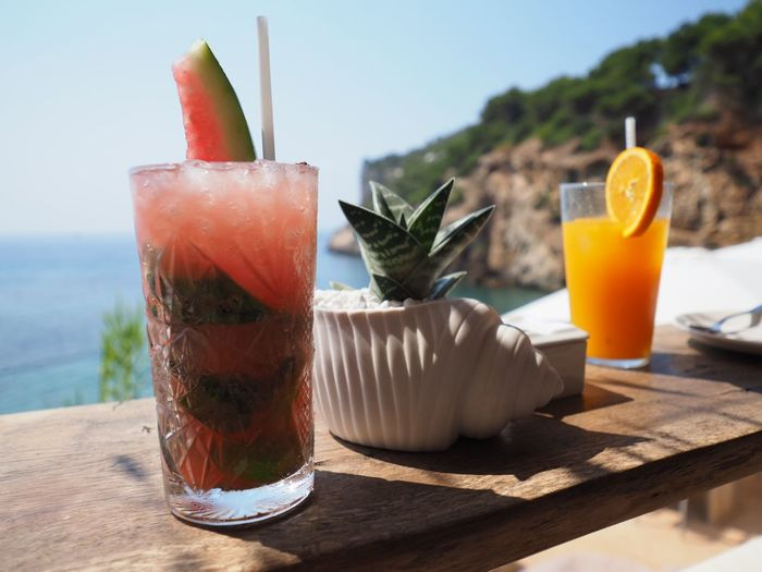 Ibiza ach Ibiza 😄 Glass Drink Food And Drink Drinking Glass Refreshment Freshness Table