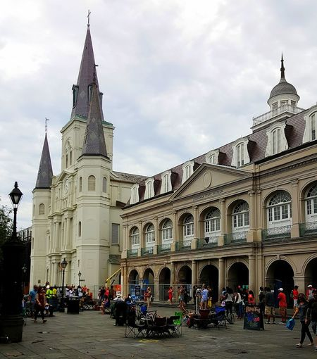 St. Louis Cathedral in Jackson Square. New Orleans NOLA New Orleans EyeEm New Orleans, LA Louisiana Jackson Square Cathedral Catholic Arcitecture Catholic Church Tourists In New Orleans