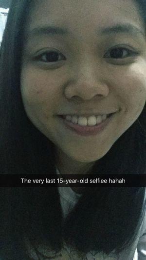 The very last snapchat selfie before 16 years old!!!😛😛 Chiu's2016 Snapchat Snapchat Selfies Selfies Before16 Last Selfie Blablabla