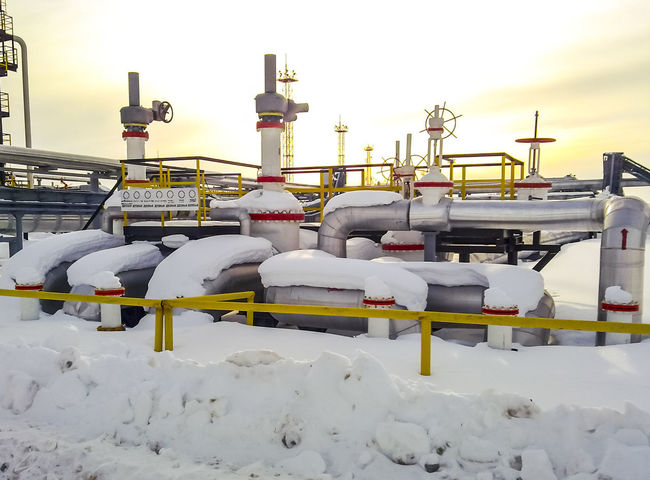 Oil Oil Pump Gas Gasprom Rosneft Refinery Industry Cold Temperature Snow Winter Nature Sky White Color Frozen Covering Day No People Outdoors Built Structure Beauty In Nature Architecture Building Exterior Construction Industry Sunset Clear Sky