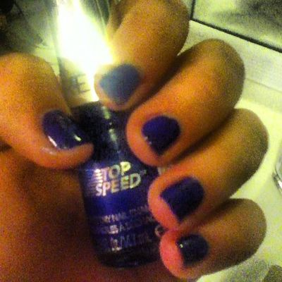 Did my nails!? Finally Did Nails Royal blue so pretty short nails revlon topspeed amazing