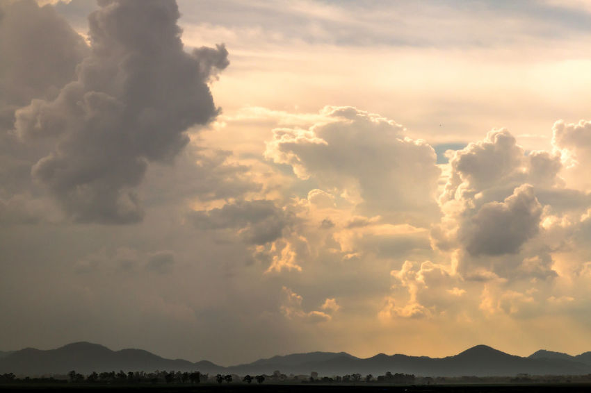 The Nature of cloud always change all the time. Abstract Atmosphere; Background Beauty In Nature Climatechange Cloud - Sky Colorful; Day Dream; Environment; Evening; Fantastic; Fluff; Freedom; Mountains Nature No People Outdoors Rainy; Scenics Sky Sunset; Tranquility Warm; Weather;