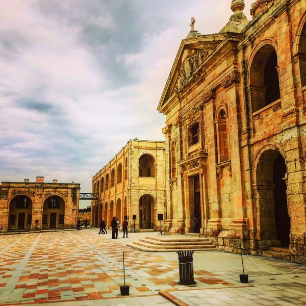 Fort Manoel Gzira, Malta Architecture Built Structure Arch Cloud - Sky Building Exterior History Sky Travel Destinations Place Of Worship Religion Day Spirituality Outdoors Dome Real People