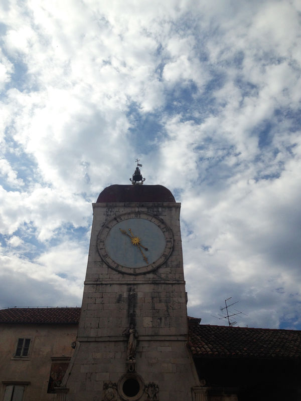 Old tower clock Architectural Feature Architecture Clock Clock Tower Cloud Cloud Cloud - Sky Cloudporn Clouds Clouds And Sky Cloudscape Cloudscape Croatia Detail EyeEm Best Shots Low Angle View Old Old Town Outdoors Sky Stone Tourism Tower Travel Destinations Trogir