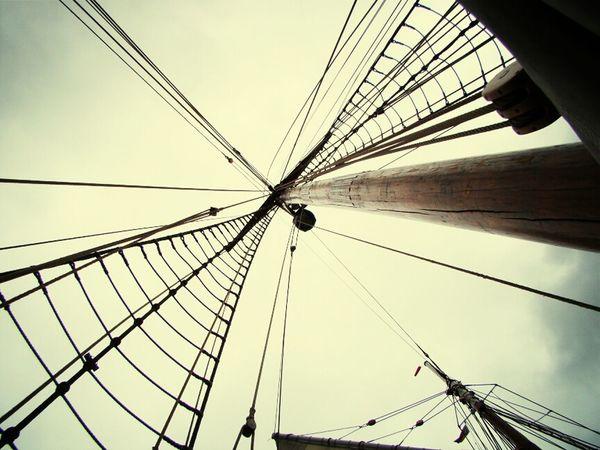 On A Boat Sailing Hamburg