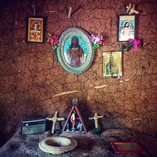 Backcountry Backcountry House Brazil Clay Wall Multi Colored Place Of Worship Religious Art Religious Icons Symbol Wilderness