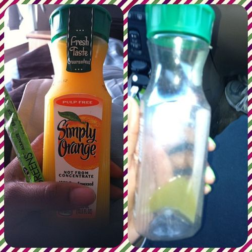 Before and after Addicted Greensonthego Simplyorange Detox energy alkalize itworks