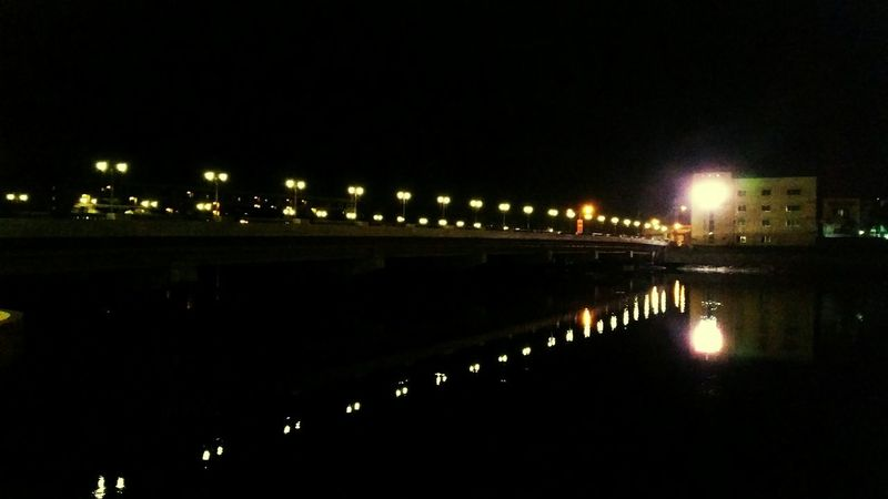 Water Reflections in the Infamous Bridge of Iloilophilippines