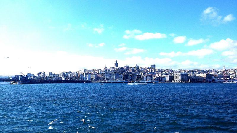Galatakulesi Istanbul Turkey Uskudar Deniz Vapur Marti Bogazturu Aziz Istanbul Gene Görüşürüz