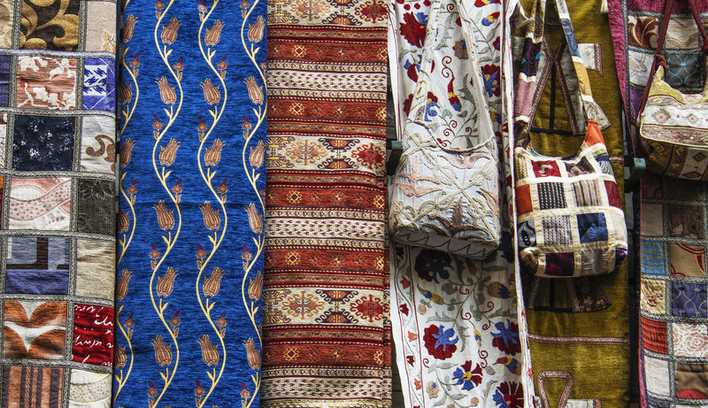 Turkish bags on Grand bazaar Istanbul Backgrounds Bags Bazaar Close-up Cultures Day Full Frame Grand Bazaar Market Multi Colored No People Outdoors Sari Turkish Variation