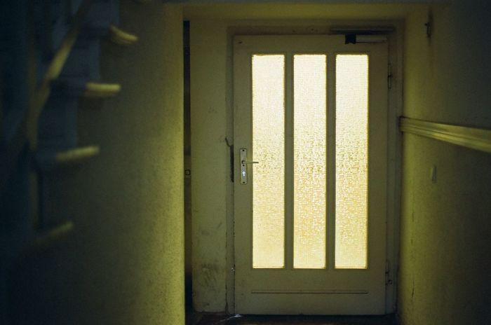 Door Indoors  Doorway No People Close-up Day Open Door Architecture Ambient Available Light Mood Light Film 35mm Film Minimalism Geometry