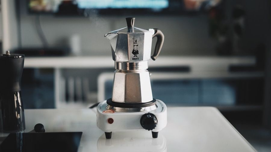 Coffee Bialetti Focus On Foreground Close-up No People Coffee Maker Appliance Espresso Maker Indoors
