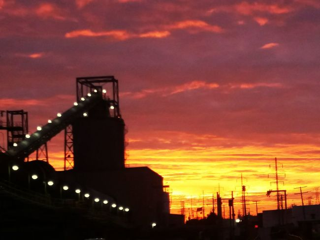 Sunrise Architecture Urban Skyline Metal Industry Industial Landscap Industry Built Structure Industry In City