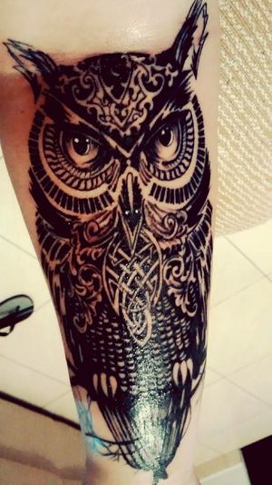 Finished ?Tatoo Owl Tattoo New Tattoo Arm Tattoo