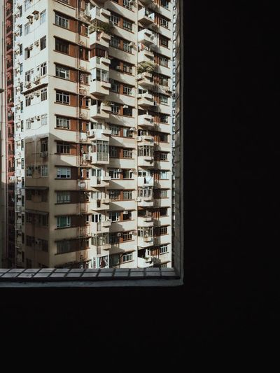 Residential Buildings Seen Through Window