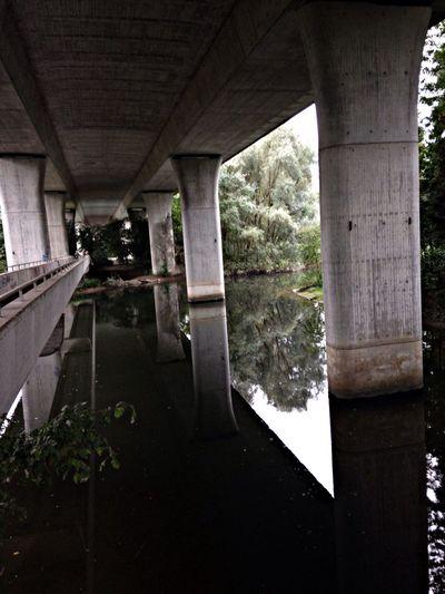 Reflection Architecture Bridge River Limmat