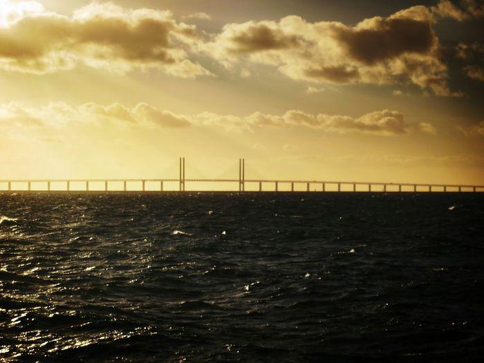 Sea Nature Water Sunset Outdoors Sky Bridge Bridge - Man Made Structure