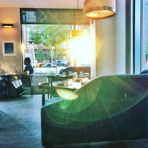 Inside glow Food Dining Out Dining Room Dining Stolen Moments Indoors  Window Table Seat Glass - Material Transparent Sunlight Restaurant
