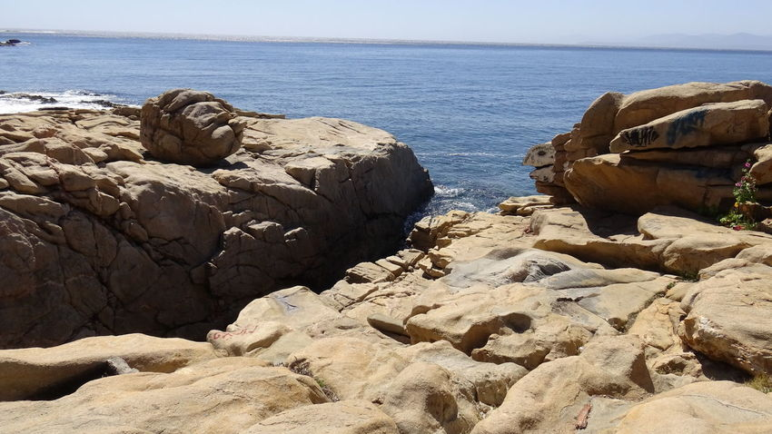 Landscape, cliff, rocky beach and seaside Nature Rock Formation Rocky Beach Beach Landscapes Mineral Stone Seaside Volcano Stone Water