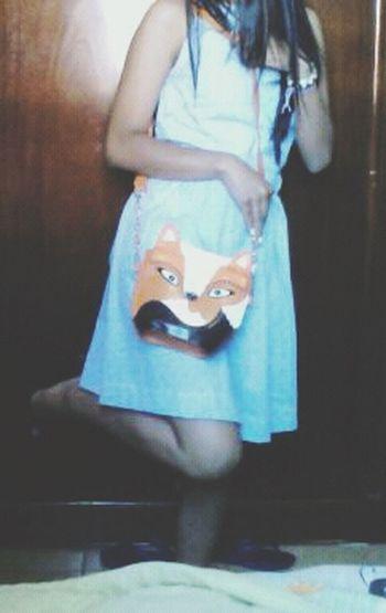 Apaixonada pela minha bolsa nova hahah Bag Fox Hot Look Today Cute