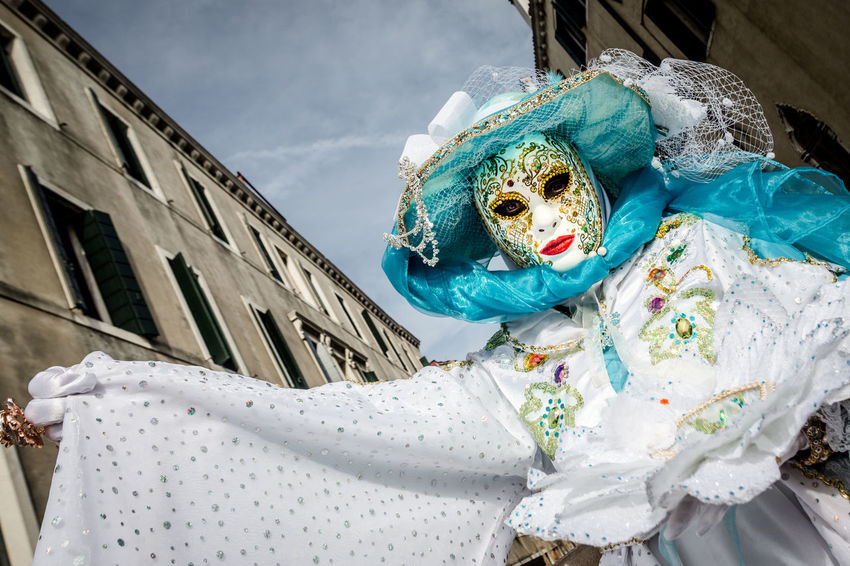 The Carnival of Venice Carnival Carnival Crowds and Details Disguise Tradition Traditional Culture Venezia Architecture Building Exterior Day Documentary Italy Low Angle View Mask Mask - Disguise No People Outdoors Sky Venetian Mask Venice