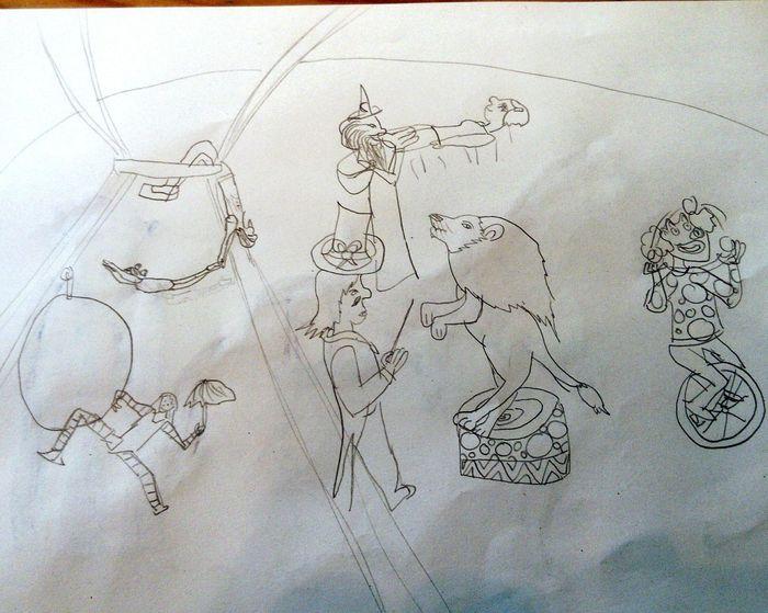 J'aime l'imagination débordante de ma fille...... 😊 Paper Dessin Du Jour! Dessins Children Drawing Drawing ✏ Proudmom
