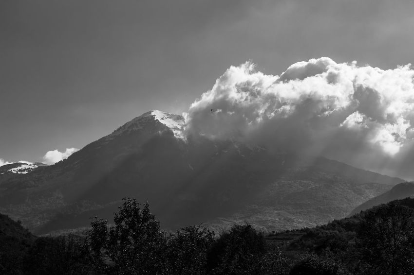 Albania Nature Snow Capped Mountains Black And White Clouds Clouds And Sky Mountain Nature_collection Sun Rays