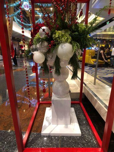 Aria Resort & Casino.  Christmas Indoors  Celebration Christmas Decoration Retail  Tradition Hanging