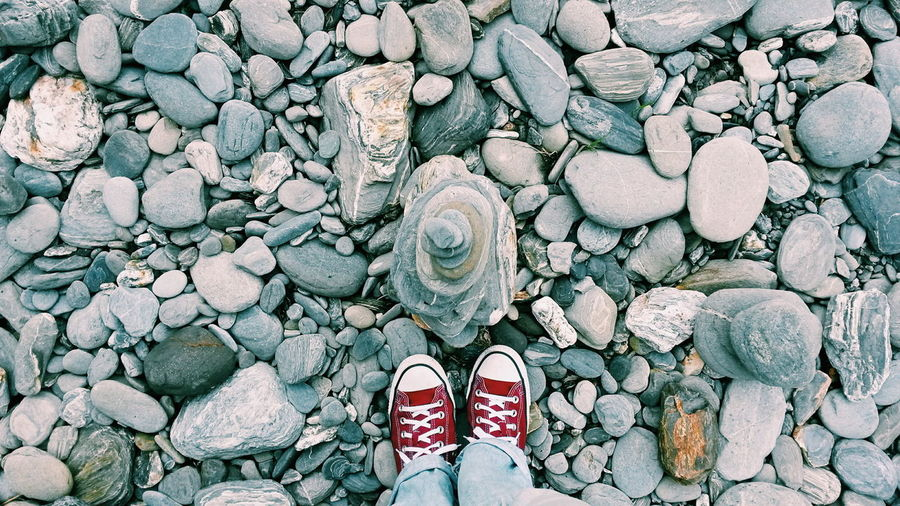 Backgrounds Background Shoes Nature Nature Photography Nature_collection Shoe Shoes Converse Travel Outdoors Hike Footwear Stone - Object Ground Gravel Cobbled Canvas Shoe