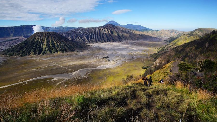 Bromo Mount Scenics - Nature Mountain Beauty In Nature Landscape Sky Tranquil Scene Non-urban Scene Volcano Idyllic No People Remote Land Plant Environment Tranquility Nature Mountain Range Day Growth Cloud - Sky