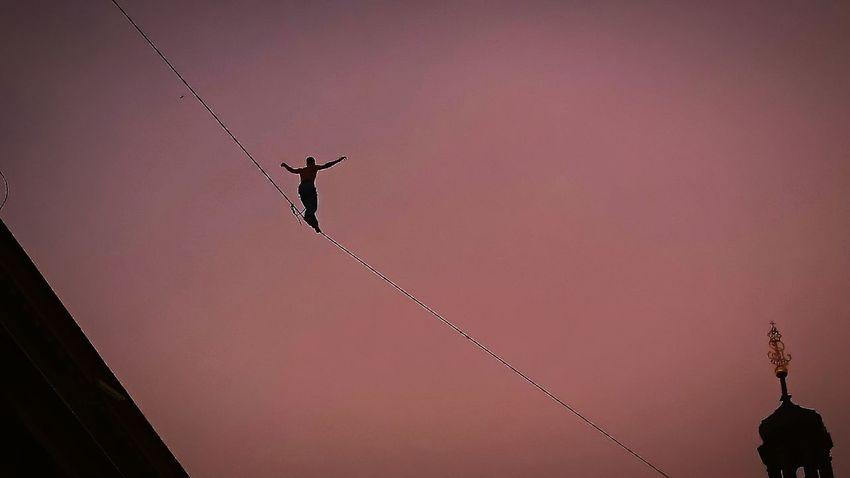 Danger! Dangerous Danger Rope Rope Climb ROPE WALK Rope Bridge Rope Art Best EyeEm Shot Best Shots EyeEm Circusfestival Circus