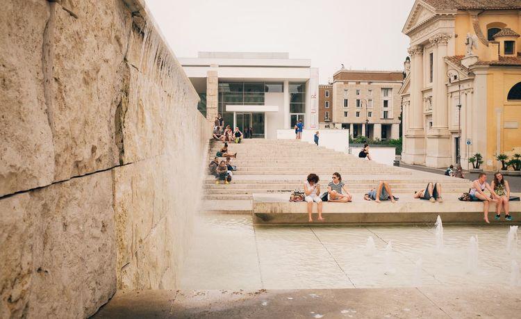 Ara pacis // VSCO Vscocam X100S FUJIFILM X100S Fuji X100s Streetphotography Street Photography Streetphoto_color Mausoleum Fountain