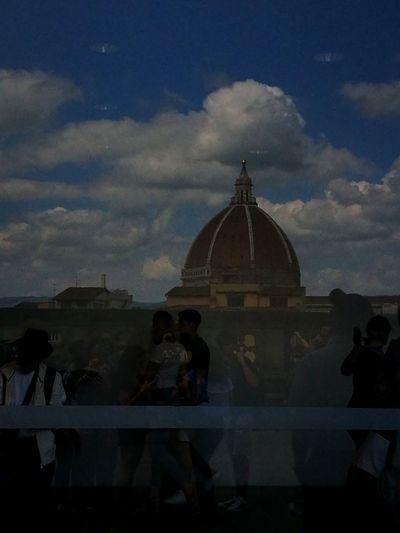 Firenze la magnifica Sospesa, Tra Cielo E Terra Fusione Colorized Contemplazione City Politics And Government Dome Religion Sky Architecture Built Structure Historic Cupola