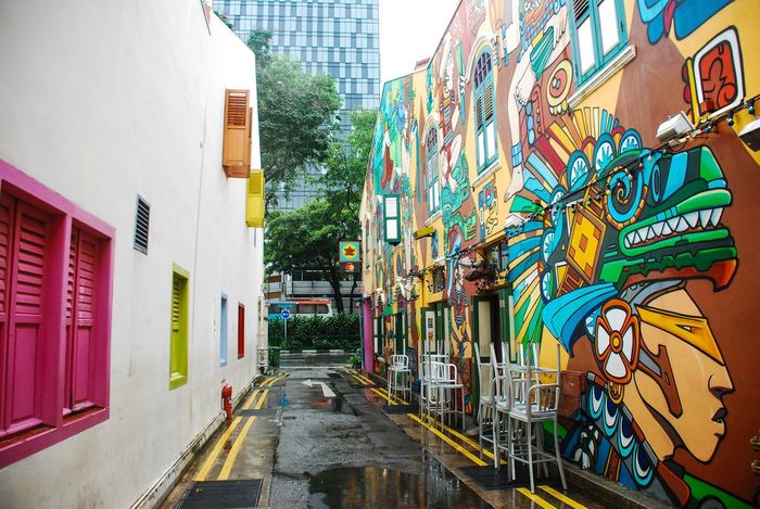 🇸🇬 Architecture Building Exterior Built Structure Multi Colored Outdoors Day City No People Architecture Wall City Haji Lane, Singapore Art Singapore ASIA Travel