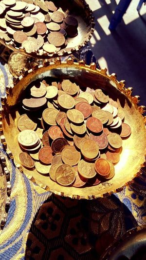 Philanthropy Budist Travel Nakhonpathom Thailand Thai Coin Coins