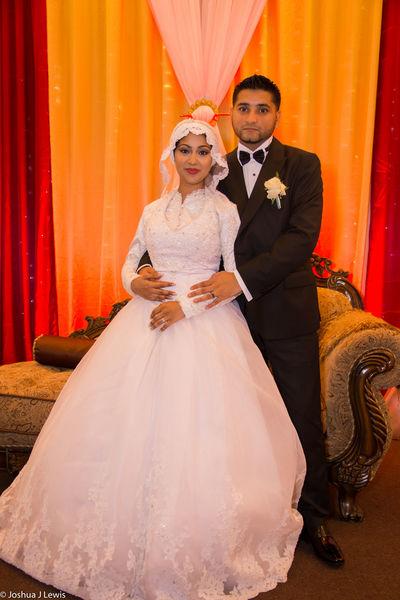 Beautiful People Wedding Portrait Togetherness Love Bride Smiling Wedding Dress Happiness Celebration Trinidad And Tobago Muslimwedding Stillife Caribbean Religion Life Events