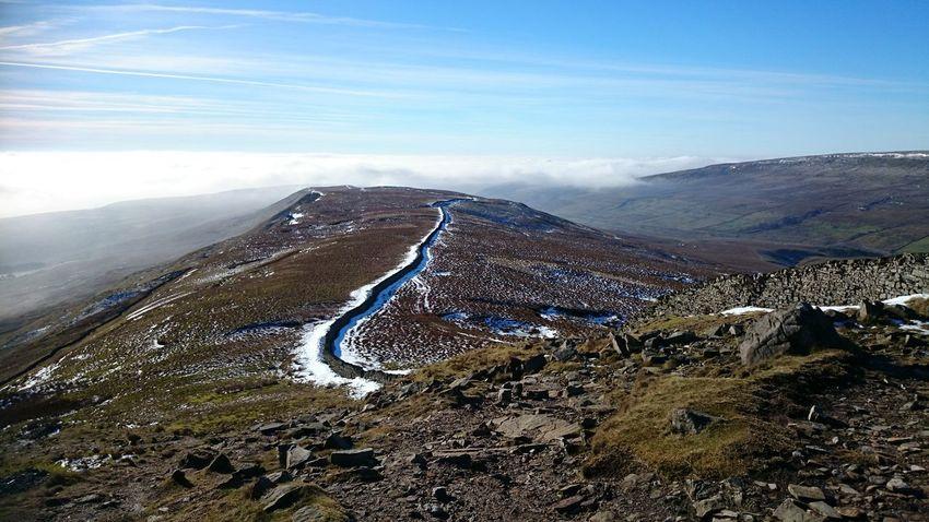 Yorkshire Three Peaks Snowy Snow Snowy Trail Trail Trail Running Yorkshire Yorkshire Three Peaks Whernside Mountain Range Ridge Mountain View Mountain Ridge