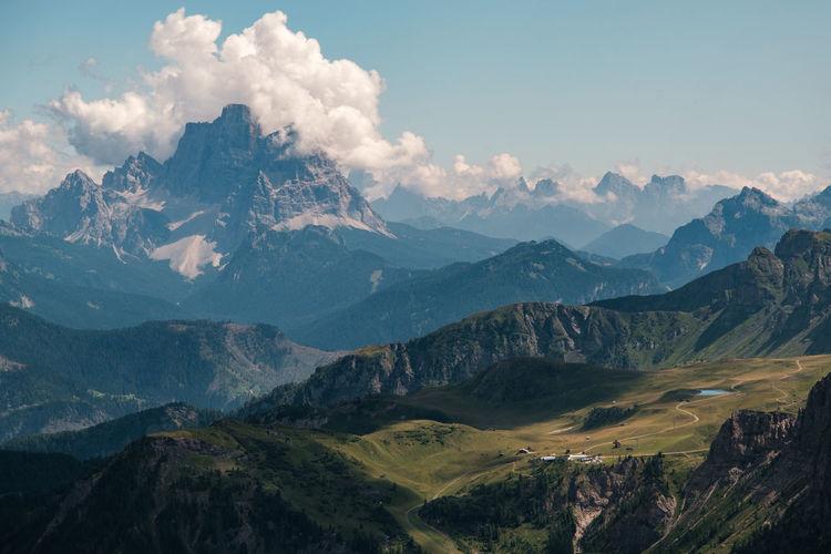 Val cordevole view from sass pordoi - alto adige sudtirol - italy