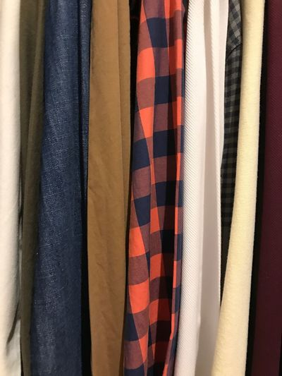 Full Frame Shot Of Clothes For Sale In Store
