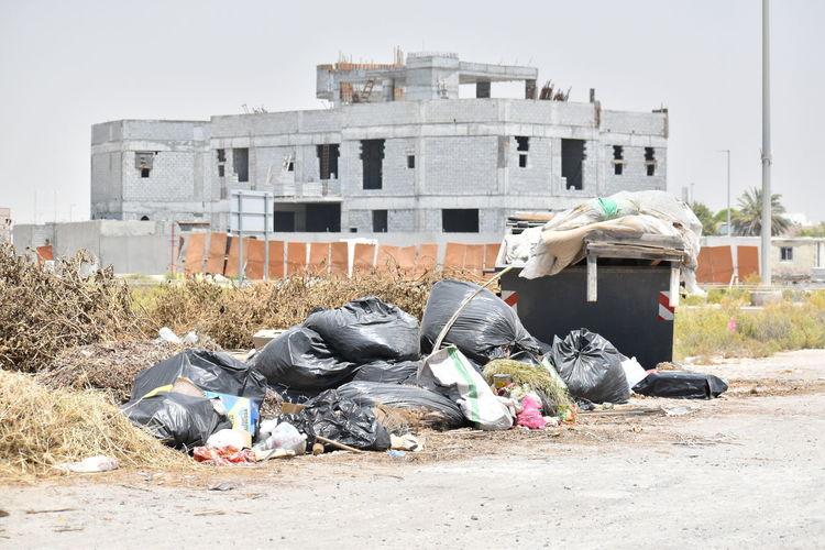 Garbage sleeping outside building