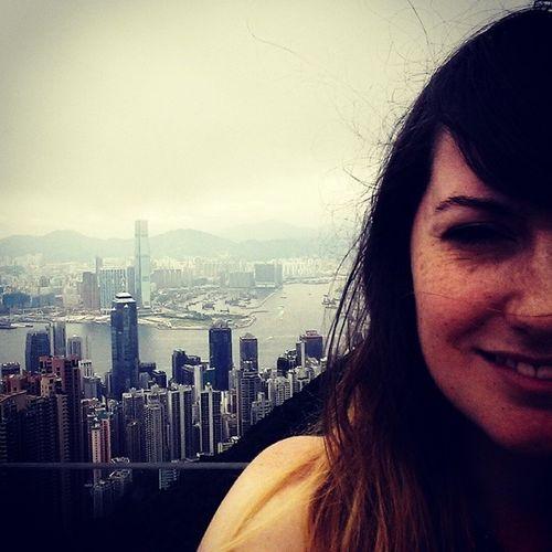 Windy day at Thepeak HongKong Lonelytourist Selfie Travelling